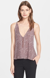 Veda 'Brice' Silk Camisole Bordeaux Abstract