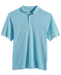 Weatherproof Men's Texture Dobby Polo Norse Blue