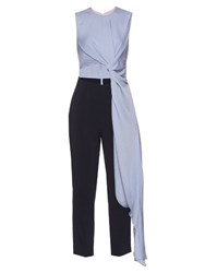 Roksanda Ilincic Thurloe Cut Out Jumpsuit Black Blue