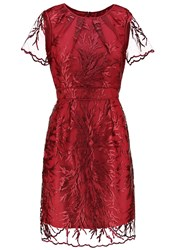 Adrianna Papell Cocktail Dress Party Dress Marsala Red