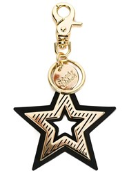 See By Chloe Double Star Keyring Black