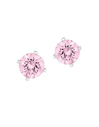Swarovski Attract Light Reversible Pink Crystal And Faux Pearl Stud Earrings