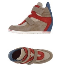 Pas De Rouge High Tops And Trainers Khaki