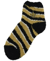 For Bare Feet New Orleans Saints Sleep Soft Candy Striped Socks Black Gold