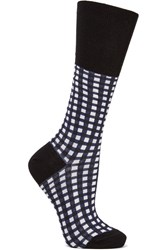 Marni Checked Cotton Blend Socks Black