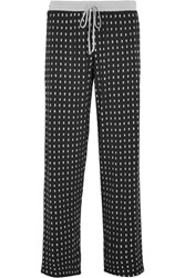 Dkny Printed Stretch Modal Jersey Pajama Pants Black