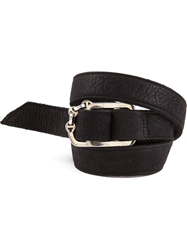 Hoorsenbuhs Buckled Triple Wrap Bracelet Black