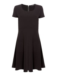Replay Stretch Full Skirt Dress Black