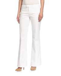 Derek Lam 10 Crosby Flared Low Rise Cotton Pants Soft White