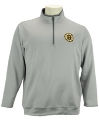 Antigua Men's Boston Bruins Quarter Zip Pullover Silver Gray