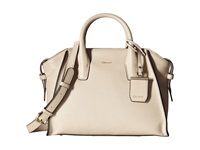 Dkny Chelsea Vintage Leather Satchel W Detachable Shoulder Strap Sand Satchel Handbags Beige
