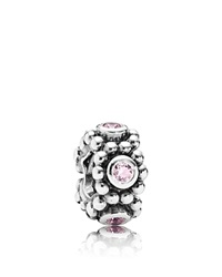 Pandora Design Pandora Spacer Sterling Silver And Cubic Zirconia Her Majesty Moments Collection Silver Pink