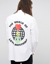 Love Moschino The World Of Back Print Shirt White