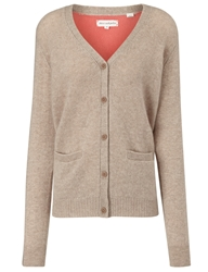 Chinti And Parker Two Tone Cashmere Cardigan Beige