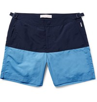 Orlebar Brown Bulldog Mid Length Two Tone Swim Shorts Navy