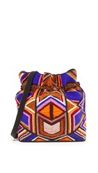 Milly Tribal Beaded Cross Body Bag Multi