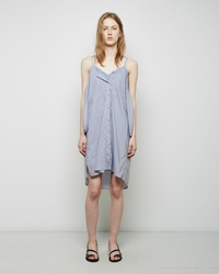 Maison Martin Margiela Tonal Striped Shirtdress Forever Blue