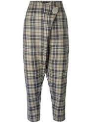 Vivienne Westwood Anglomania Checked Cropped Trousers Multicolour