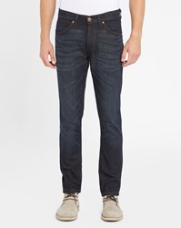 Wrangler Faded Blue Bostin Raw Slim Fit Jeans