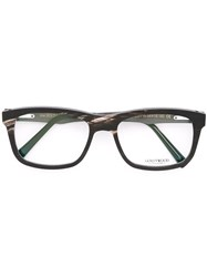 Gold And Wood 'Madison' Glasses Black