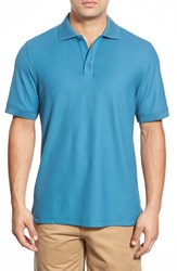 Nordstrom Men's Big And Tall Men's Shop 'Classic' Regular Fit Pique Polo Teal Steel
