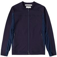 White Mountaineering Zip Crew Track Jacket Blue