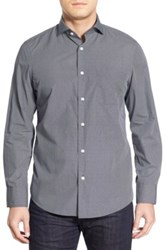 John W. Nordstrom Regular Fit Non Iron Dot Sport Shirt Blue