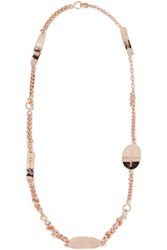 Maison Martin Margiela Convertible Rose Gold Tone Necklace