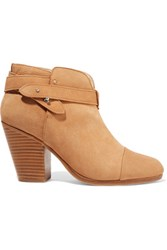 Rag And Bone Harrow Nubuck Ankle Boots Camel