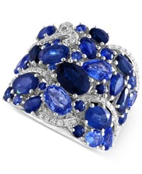 Effy Collection Royale Blue By Effy Sapphire 7 7 8 Ct. T.W. And Diamond 1 5 Ct. T.W. Band In 14K White Gold