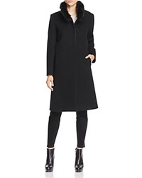 Cinzia Rocca Icons Fox Fur Collar Coat Black