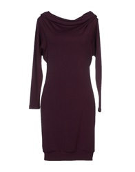 Daniele Alessandrini Short Dresses Deep Purple