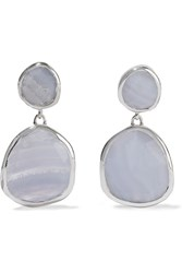 Monica Vinader Siren Sterling Silver Agate Drop Earrings Metallic