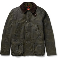 Polo Ralph Lauren Leather Trimmed Waxed Cotton Canvas Jacket With Quilted Shell Gilet Green