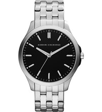 Armani Exchange Ax2147 Silver Plated Watch Black