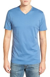 Men's Robert Barakett 'Georgia' V Neck Pima Cotton T Shirt Federal Blue