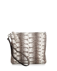 Carlos Falchi Watersnake Wristlet Natural