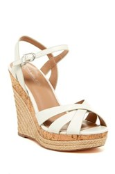 Charles By Charles David Astro Leather Espadrille Wedge Sandal White