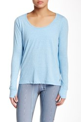 Steve Madden Back Wrap Long Sleeve Tee Gray