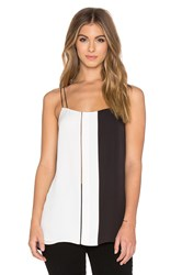 Vince Colorblock Ladder Stitch Cami Black And White
