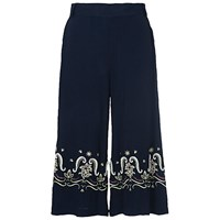 French Connection Casa Tile Flared Trousers Utility Blue