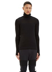 Y 3 Sport Varied Rib Roll Neck Sweater Black