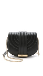 Salvatore Ferragamo Rosette Saddle Cross Body Bag Nero