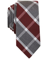 Bar Iii Men's Coconino Plaid Tie Only At Macy's Burgundy