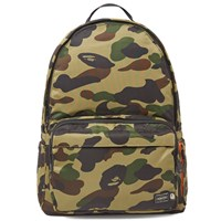 A Bathing Ape X Porter 1St Camo Day Pack Green