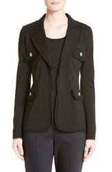 St. John Women's Collection Georgette Trim Milano Knit Jacket