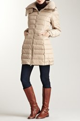 Happy Goat Lucky Annie Down Filled Puffer Coat Beige