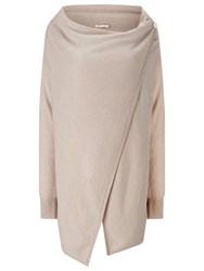 Jacques Vert Oversized Wrap Cardigan Mid Neautral