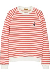 Peter Jensen Mariner Striped Cotton Sweatshirt Orange