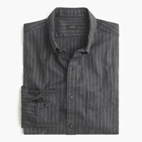 J.Crew Slim Brushed Twill Shirt In Pinstripe Hthr Charcoal